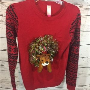 Sweaters - Reindeer Christmas Sweater Red Tacky Sweater M